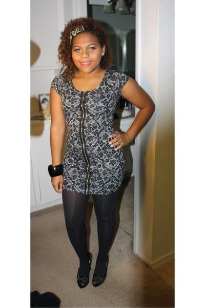 black Forever21 dress - black Guess heels