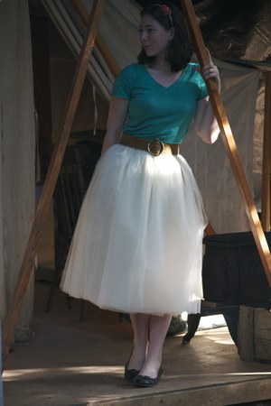 tulle Kellie Falconer skirt - thrifted top