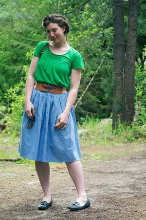 thrifted purse - Kellie Falconer skirt - Forever 21 belt