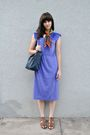 Brown-vintage-scarf-purple-vintage-dress-brown-nine-west-shoes-blue-vintag