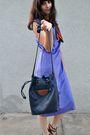 Brown-vintage-scarf-purple-vintage-dress-brown-nine-west-shoes-blue-vintag
