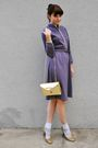 Gold-enzo-angiolini-shoes-white-socks-purple-vintage-dress-gold-vintage-pu