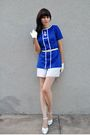 White-vintage-gloves-blue-vintage-blouse-white-lux-dress-white-vintage-sho
