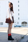 Gaga-lace-up-vagabond-boots-satchel-vintage-purse-shorts
