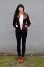 Brown-vintage-blazer-brown-accessories-white-thrifted-blouse-bdg-jeans-b