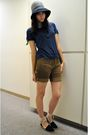 Blue-vintage-shoes-brown-diy-shorts-blue-merona-target-shirt-gray-eugeni