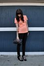 Pink-vintage-blouse-black-american-apparel-pants-black-jeffrey-campbell-shoe
