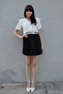 White-vintage-blouse-white-vintage-belt-black-diy-skirt-white-vintage-shoe