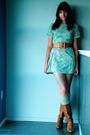Brown-vintage-boots-beige-socks-green-vintage-dress-brown-vintage-belt-s