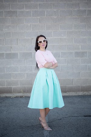 aquamarine asos skirt