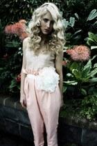 flower corsage Flower Corsage belt - silk trousers Kelsey Genna pants