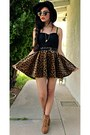 Black-lace-forever-21-intimate-mustard-leopard-romwe-skirt