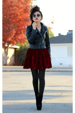brick red romwe skirt