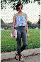 tribal fresh tops top - shiny Victorias Secret leggings