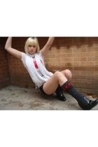 Urban Outfitters shirt - Costa Blanca shorts - Betsey Johnson boots - Costa Blan