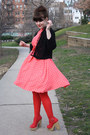 Bubble-gum-polka-dot-dress-red-tights-red-h-m-purse-red-sandals