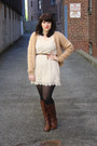 Cheap-monday-cardigan-boots-lace-dress