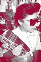 Miss Selfridgesidge shirt - spirfire sunglasses - kerolajn purse