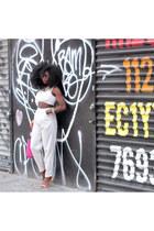 nude Zara heels - hot pink Michael Kors bag - cream American Apparel pants