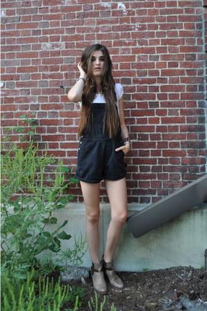 vintage romper - rag & bone boots - H&M t-shirt