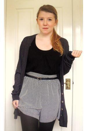 vintage cardigan - Topshop vest - George shorts - vintage belt - Miss Selfridge