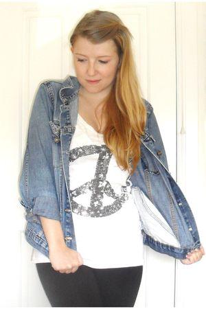 vintage jacket - H&M vest - H&M leggings