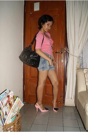Natasha blouse - no-brand shorts - vivienne westwood shoes - Guess accessories