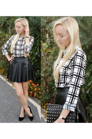 checkered Front Row Shop shirt
