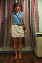 taken from my moms closet blouse - Dockers skirt - Ohrelle belt - Mango - Happy