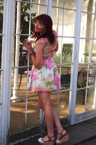 bubble gum Topshop dress - white Asda shoes