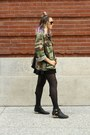 Black-black-jeffery-campbell-boots-forest-green-army-thrifted-jacket