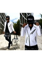 Mort paris hat - antony murato boots - guylook jeans - guylook jacket