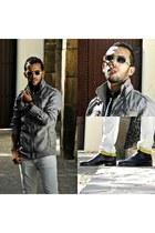 Step dockers shoes - Massimo Dutti jeans - Bershka jacket - Zara shirt