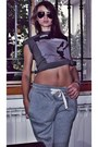 Heather-gray-h-m-t-shirt-silver-h-m-pants