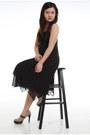 Black-chiffon-h-m-divided-dress-tan-suede-parissian-pumps