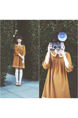 gold Dear Creatures dress