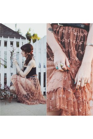 lace free people skirt