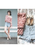 American Apparel jumper - Urban Outfitters shoes - American Apparel shorts
