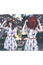 vintage hat - modcloth dress