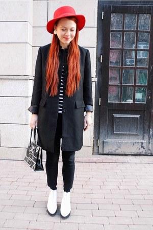 eggshell Topshop boots - black kira plastinina coat