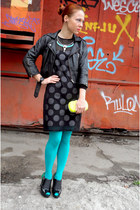 black silvian heach boots - black Topshop jacket