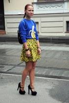 black Topshop skirt - blue Topman jumper