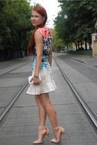 nude Topshop heels - periwinkle Love Republic dress