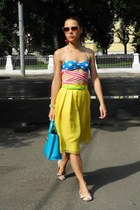 yellow taiwan skirt - blue Jeremy Scott swimwear