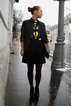 black ASH boots - black Topshop vest - yellow H&M top