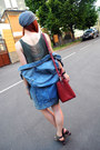 Olive-green-adidas-dress-ruby-red-bimba-lola-bag-blue-topshop-vest