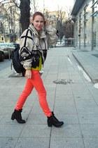 salmon Fracomina jeans - yellow Zara jumper