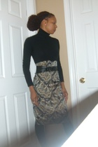 American Apparel dress - Zara skirt - vintage belt