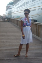 vintage dress - vintage belt - Enzo shoes