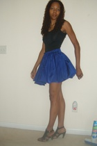 vintage hemmed skirt - Nine West shoes - Express top